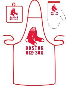Boston Red Sox Apron and Mitt Set