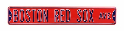 Boston Red Sox Ave Red Street Sign