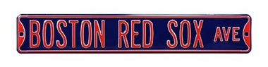 Boston Red Sox Ave Street Sign