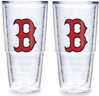 "Boston Red Sox (B) Set of TWO 24 oz. ""Big T"" Tervis Tumblers"