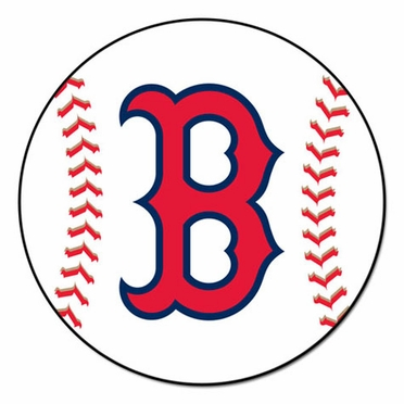 Boston Red Sox Baseball Shaped Rug