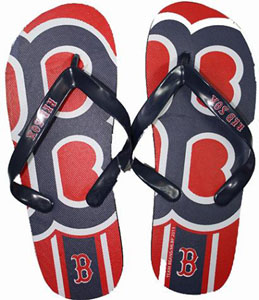 Boston Red Sox Big Logo Flip Flops - Small