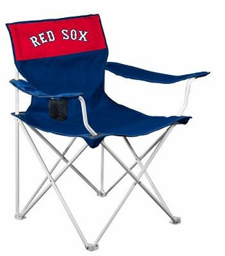 Boston Red Sox Canvas Adult Folding Logo Chair