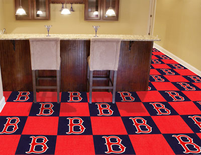 Boston Red Sox Carpet Tiles