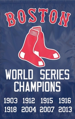 Boston Red Sox Championship Applique Banner Flag