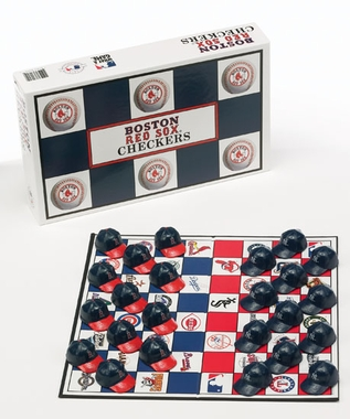 Boston Red Sox Checkers Set