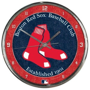 Boston Red Sox Chrome Clock