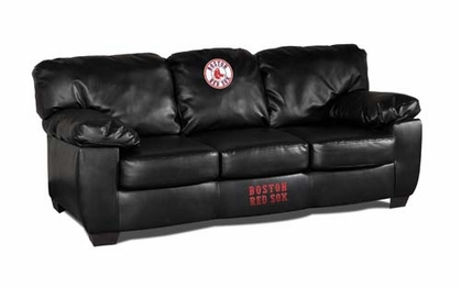Boston Red Sox Leather Classic Sofa