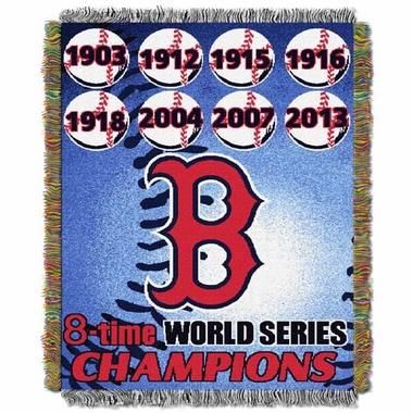 Boston Red Sox Commerative Jacquard Woven Blanket