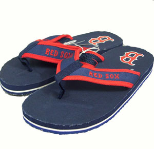Boston Red Sox Contoured Flip Flop Sandals - Small