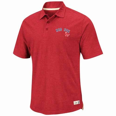 Boston Red Sox Cooperstown Infielder Vintage Polo Shirt - Red