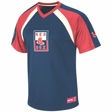 Boston Red Sox Cooperstown V-Neck Fireballer Jersey