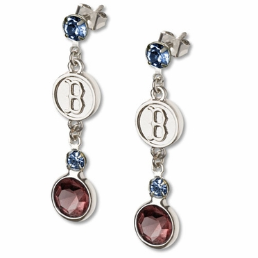 Boston Red Sox Crystal Logo Dangle Earrings