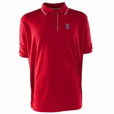Boston Red Sox Mens Elite Polo Shirt (Team Color: Red)