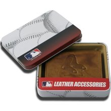 Boston Red Sox Embossed Leather Bifold Wallet