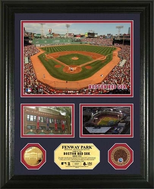 """Boston Red Sox Fenway Park Infield Dirt Coin """"Showcase"""" Photo Mint"""