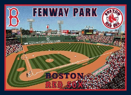 Boston Red Sox Fenway Park Woven Tapestry Throw Blanket