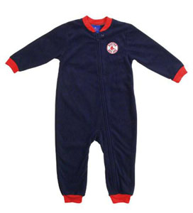 Boston Red Sox Fleece Toddler Sleeper Pajamas - 3T