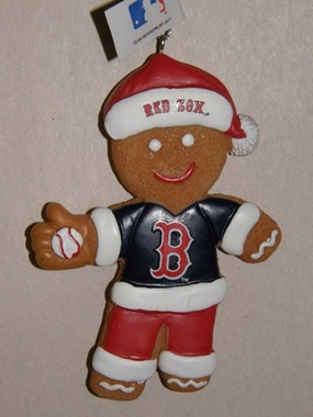 Boston Red Sox Gingerbread Man Christmas Ornament