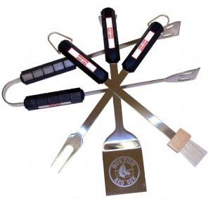 Boston Red Sox Grill BBQ Utensil Set