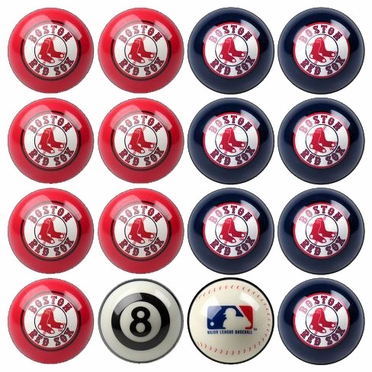 Boston Red Sox Home and Away Complete Billiard Ball Set