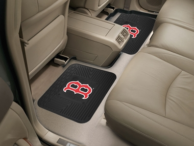 Boston Red Sox SET OF 2 Heavy Duty Vinyl Rear Car Mats