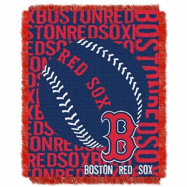 Boston Red Sox Jacquard Woven Throw Blanket
