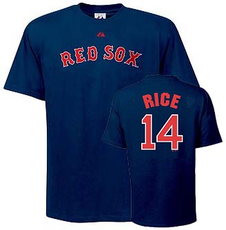 Boston Red Sox Jim Rice Name and Number T-Shirt