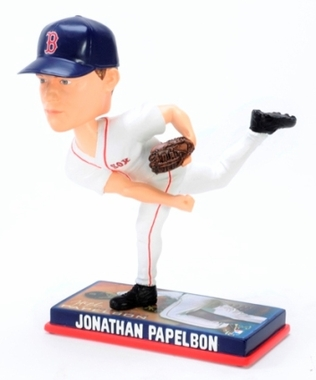 Boston Red Sox Jonathan Papelbon 2009 Photo Base Bobblehead Figure