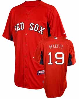 Boston Red Sox Josh Beckett YOUTH Batting Practice Jersey