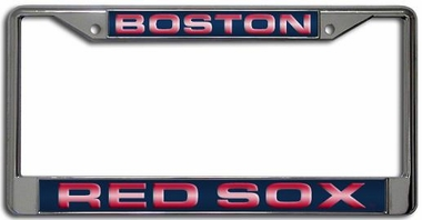 Boston Red Sox Laser Etched Chrome Lisense Plate Frame
