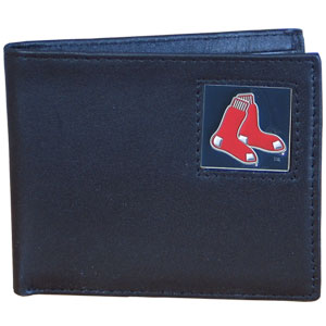 Boston Red Sox Leather Bifold Wallet (F)