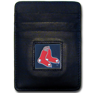 Boston Red Sox Leather Money Clip (F)