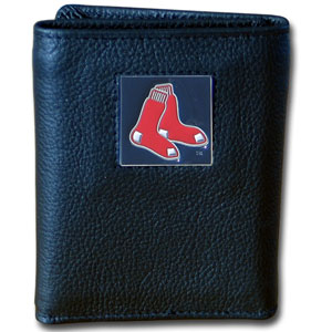 Boston Red Sox Leather Trifold Wallet (F)