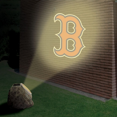 Boston Red Sox Logo Projection Rock