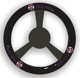 Boston Red Sox Steering Wheel Cover - Leather