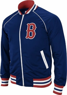 Boston Red Sox Mitchell & Ness Broad Street Throwback Premium Track Jacket