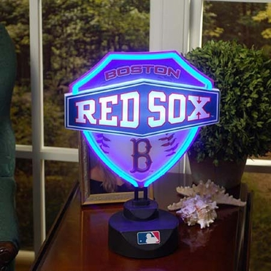 Boston Red Sox Neon Shield Table Lamp