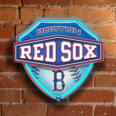 Boston Red Sox Neon Shield Wall Lamp