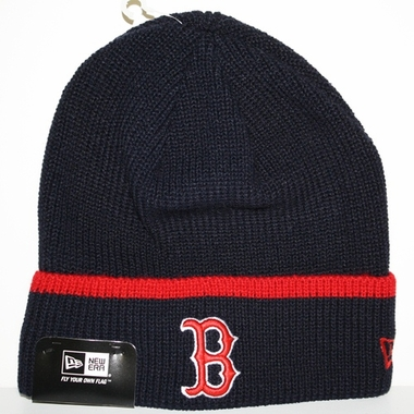 Boston Red Sox New Era Pop Cuff Knit Cuffed Knit Hat