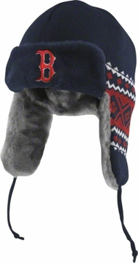 Boston Red Sox New Era Team Trapper Knit Trooper Hat