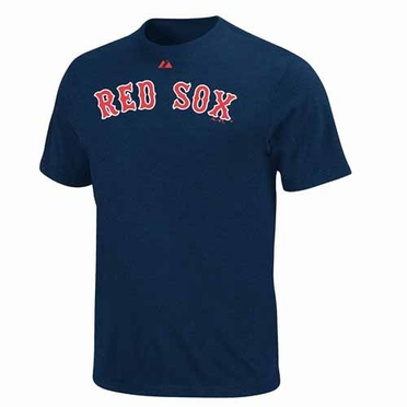Boston Red Sox Official Wordmark T-Shirt - navy