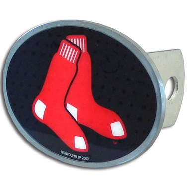 Boston Red Sox Oval Metal Hitch Cover