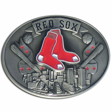Boston Red Sox Enameled Belt Buckle