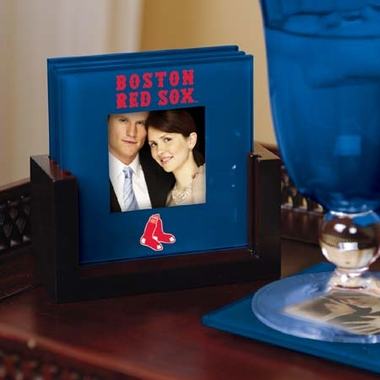 Boston Red Sox Photo Coaster Set