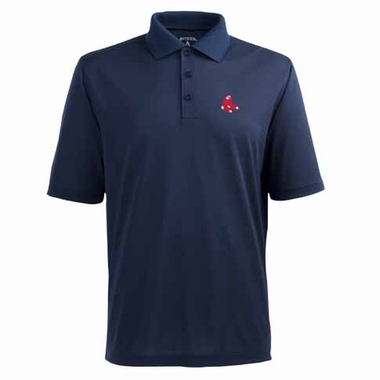 Boston Red Sox Mens Pique Xtra Lite Polo Shirt (Color: Navy)