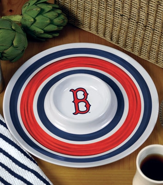 Boston Red Sox Plastic Chip and Dip Plate