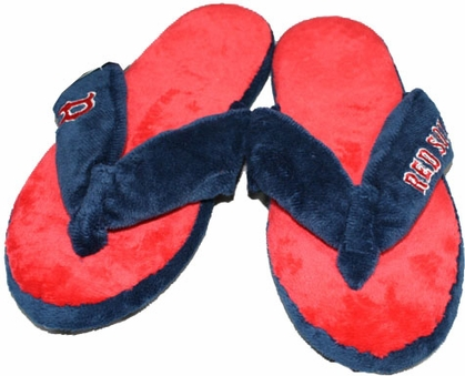 Boston Red Sox Plush Thong Slippers