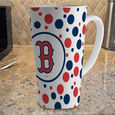 Boston Red Sox Polkadot 16 oz. Ceramic Latte Mug