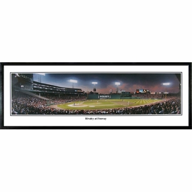 Boston Red Sox Rivalry At Fenway Framed Panoramic Print